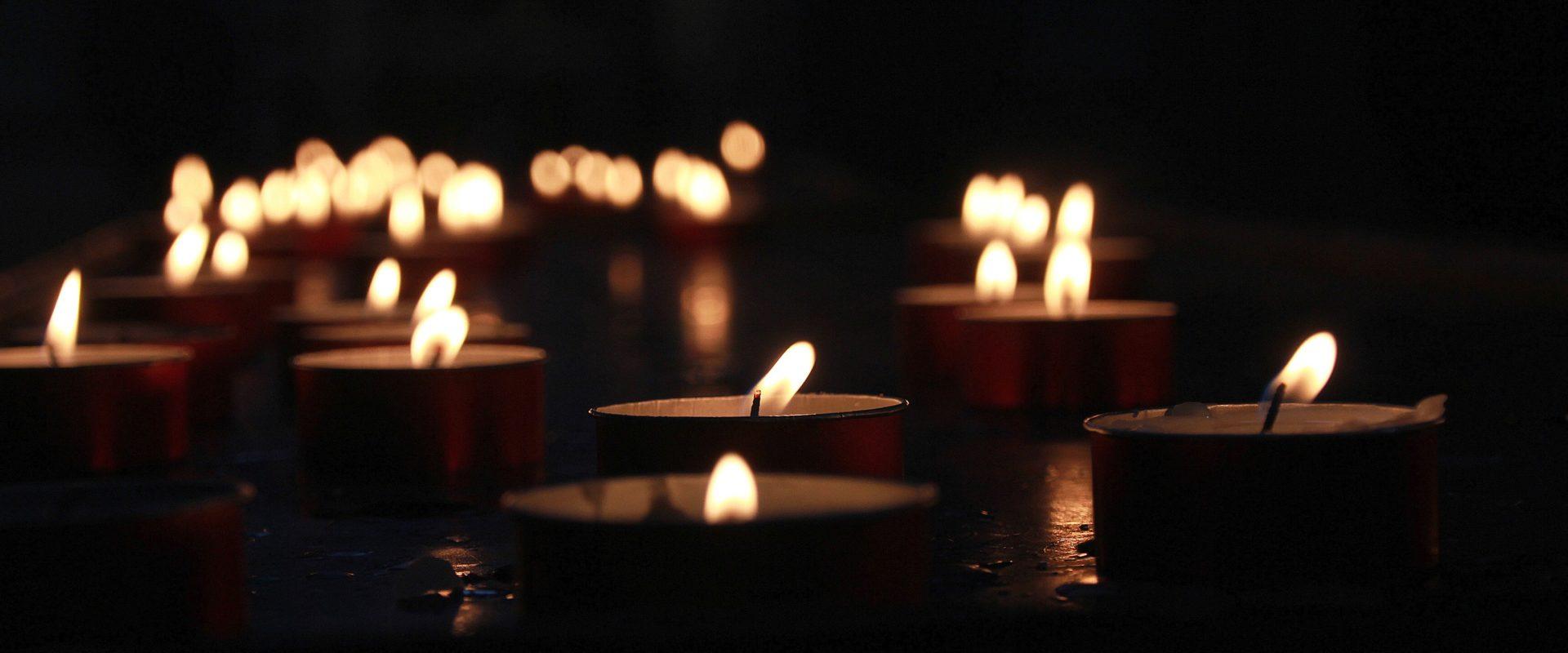 Candle light during load shedding