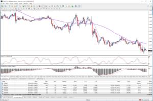 Meta Trader 4 showing EUR USD chart